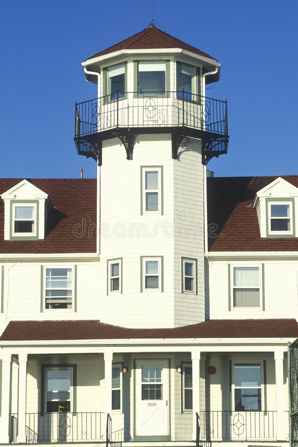 Point Judith Lighthouse at Narragansett, Rhode Island royalty free stock photography
