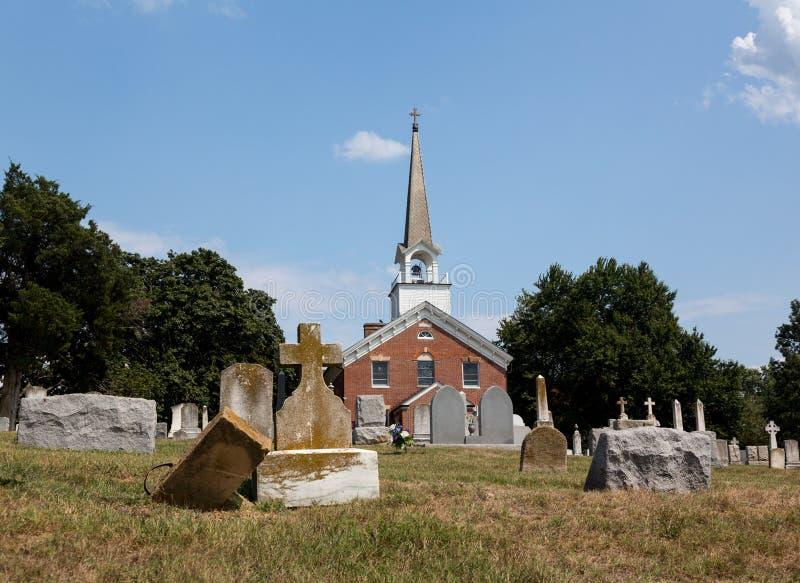 Point le Maryland de chapelle d'église de rue Ignatius images libres de droits