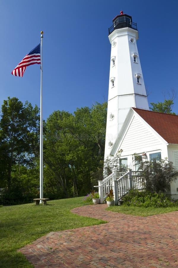Point-Leuchtturm stockbilder