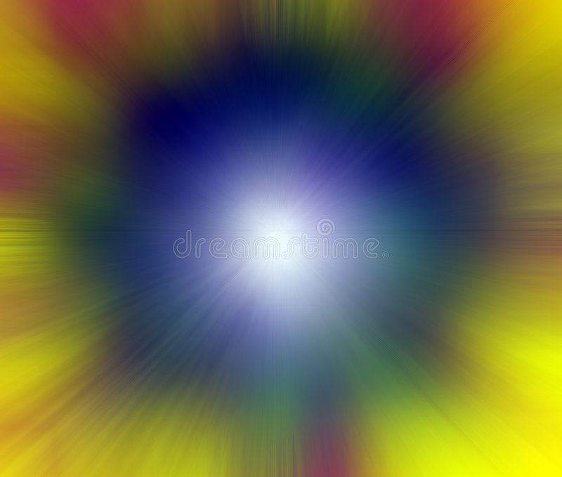 Point of Light - Exploding Color royalty free illustration