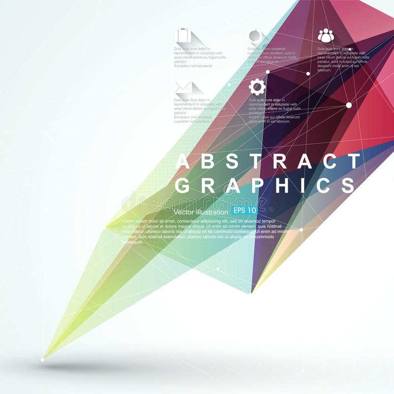 Point, line, surface composition of abstract graphics, infographics,Vector illustration. Point, line, surface composition of abstract graphics, infographics stock illustration