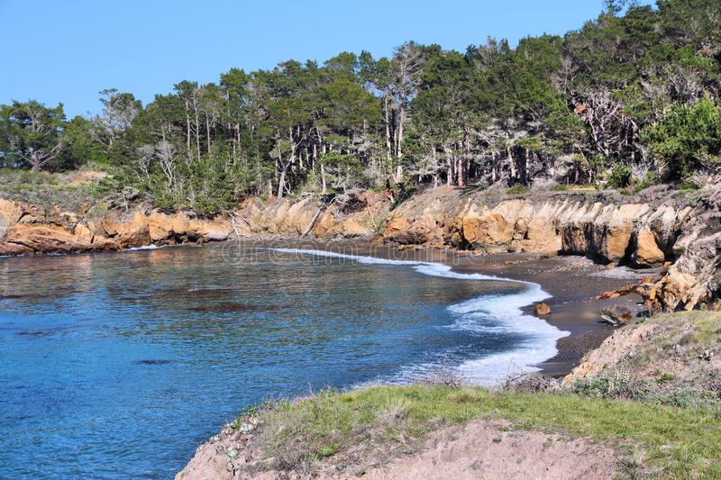 Point Lobos. California, United States - Point Lobos State Reserve. Pacific coast stock photo