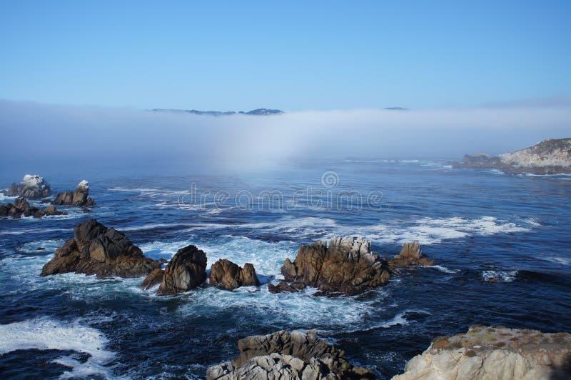 Point Lobos de côte de la Californie image stock