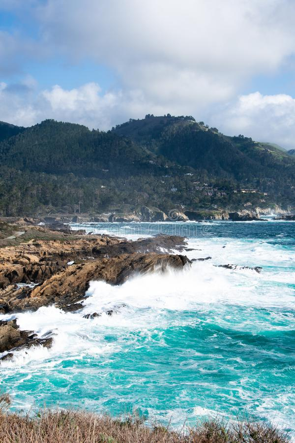 Point Lobos and the Point Lobos State Natural Reserve is the `crown jewel` of California's 280 state parks stock photo