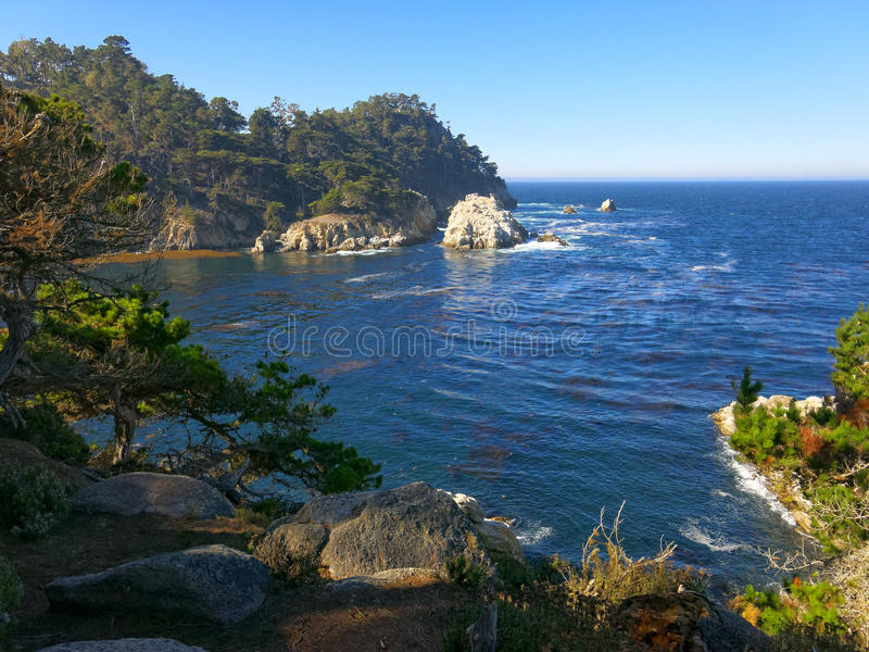 Point Lobos. View of Point Lobos located near Carmel, California, at the edge of Big Sur on the Pacific Ocean royalty free stock image