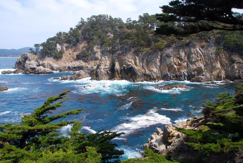 Point lobos. Wild coastline at Point Lobos State Reserve near Carmel stock photo