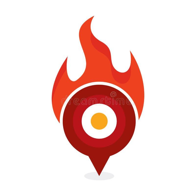 Point Logo Icon Design de brûlure illustration libre de droits