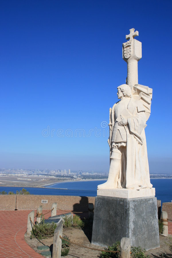 Point Loma. A view of the Cabrillo National Monument at Point Loma, San Diego. Downtown in the background royalty free stock image