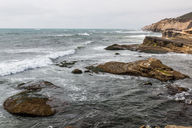 Point Loma Tide Pools in San Diego, California.  stock photo