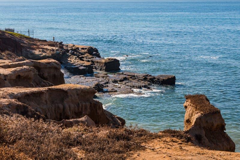 Point Loma Tidepool Area à la marée haute photo libre de droits