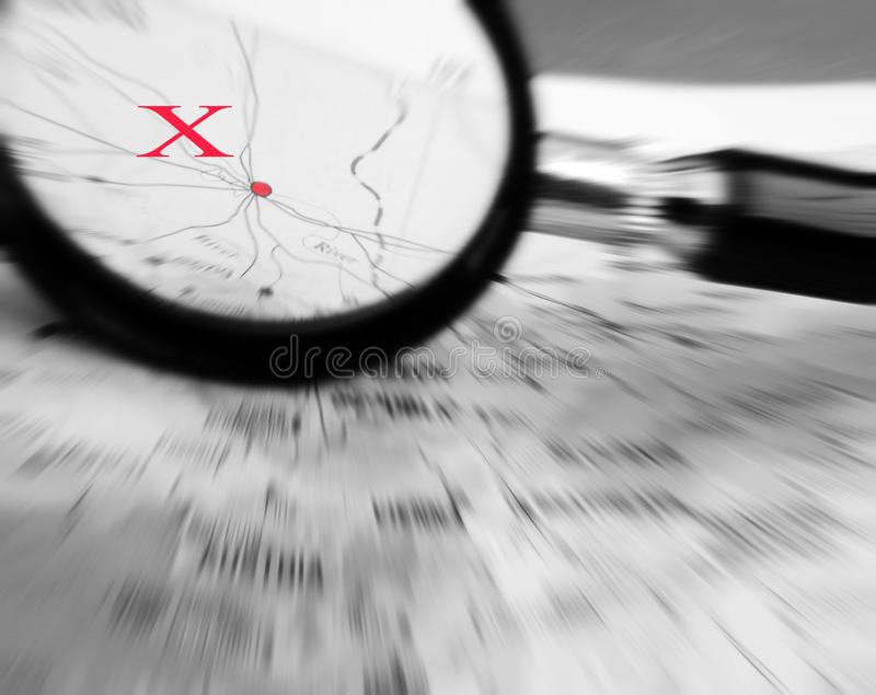 Download Point X on map stock photo. Image of ambition, black - 13431316