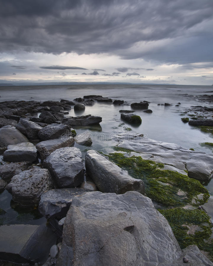 Point of Nash. Nash Point in Glamorgan, Wales, UK stock photography