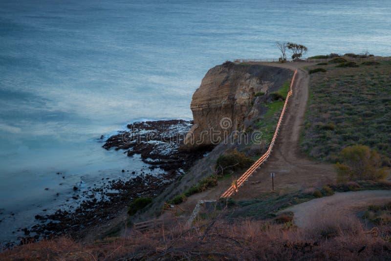 Point portugais au coucher du soleil photos stock