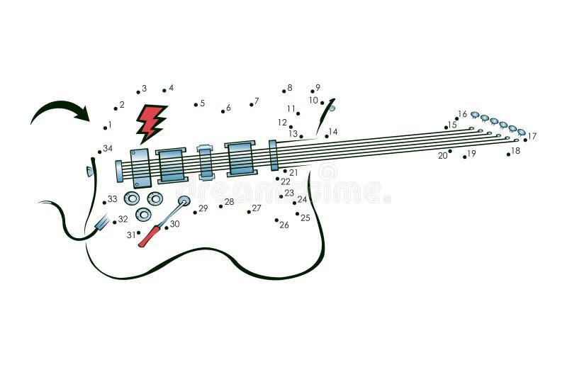 Point pour pointiller la guitare illustration de vecteur