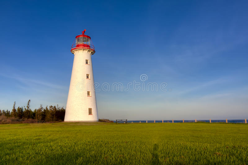 Point Prim Lighthouse. In eastern Prince Edward Island, Canada royalty free stock photography