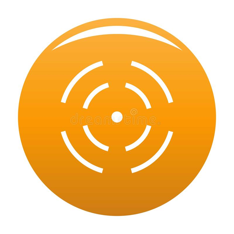 Point radar icon orange. Point radar icon. Simple illustration of point radar icon for any design orange stock illustration