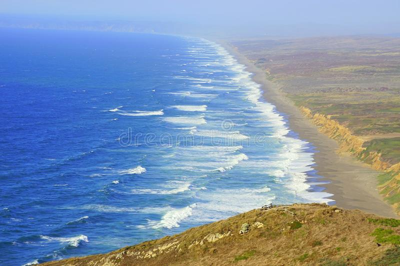 POINT REYES SHORELINE ON PACIFIC OCEAN royalty free stock photo