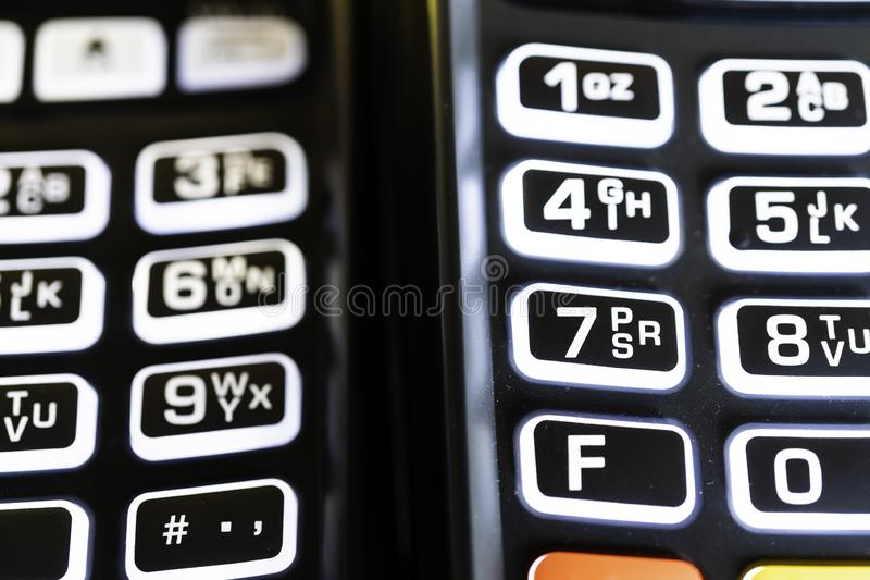 Point of Sale Machine Credit Card Reader Keypad stock photography