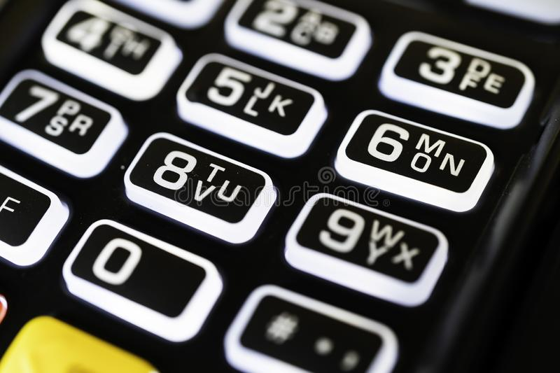Point of Sale Machine Credit Card Reader Keypad stock images