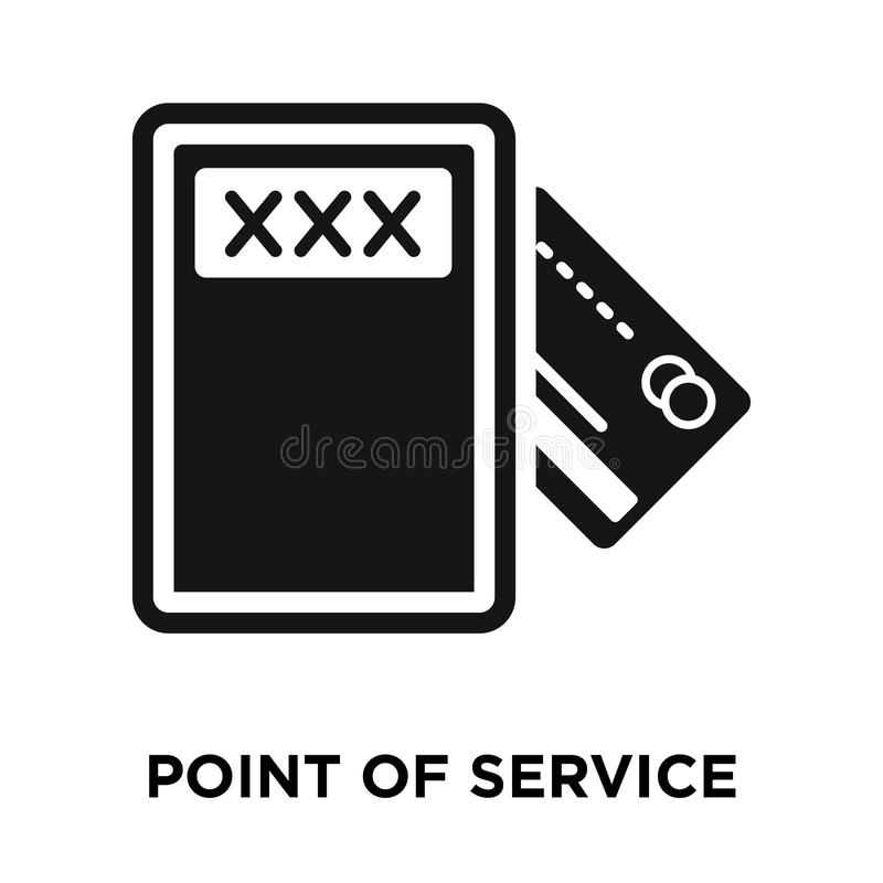 Point of service icon vector isolated on white background, logo. Concept of Point of service sign on transparent background, filled black symbol vector illustration