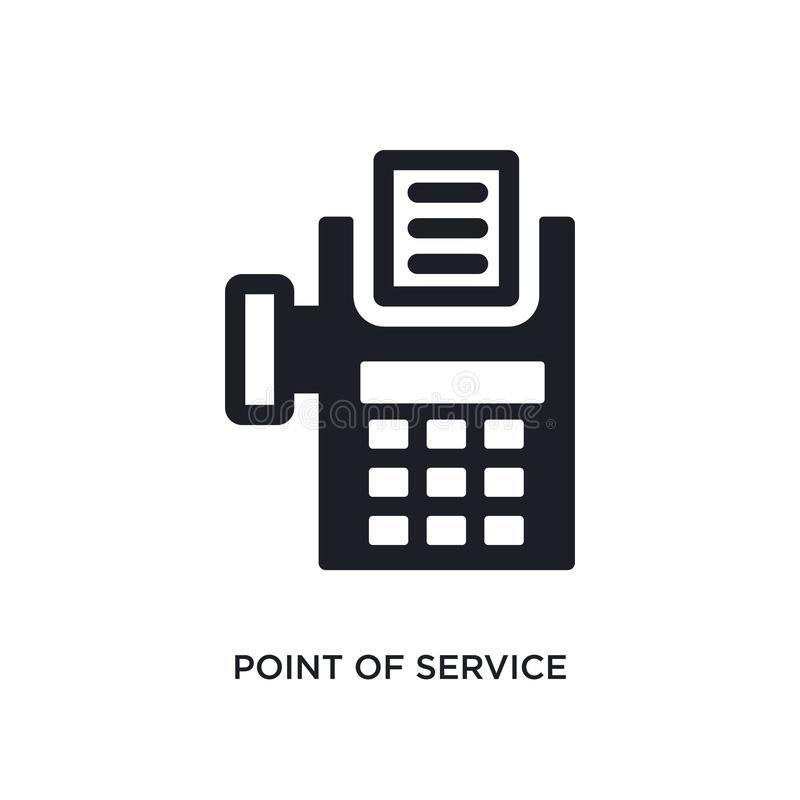Point of service isolated icon. simple element illustration from payment concept icons. point of service editable logo sign symbol. Design on white background royalty free illustration