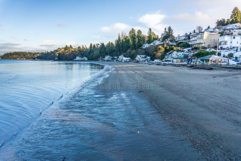 Point Shoreline 2 de tiret d'hiver photo stock