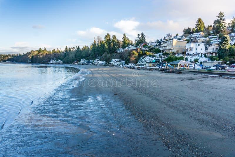 Point Shoreline de tiret d'hiver images libres de droits
