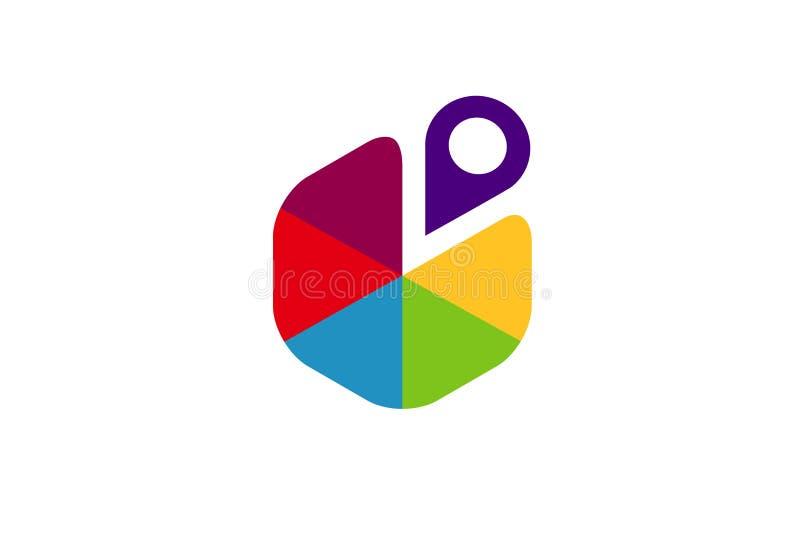 Point Slice Symbol Logo Design Illustration. Creative Point Slice Symbol Logo Design Illustration vector illustration