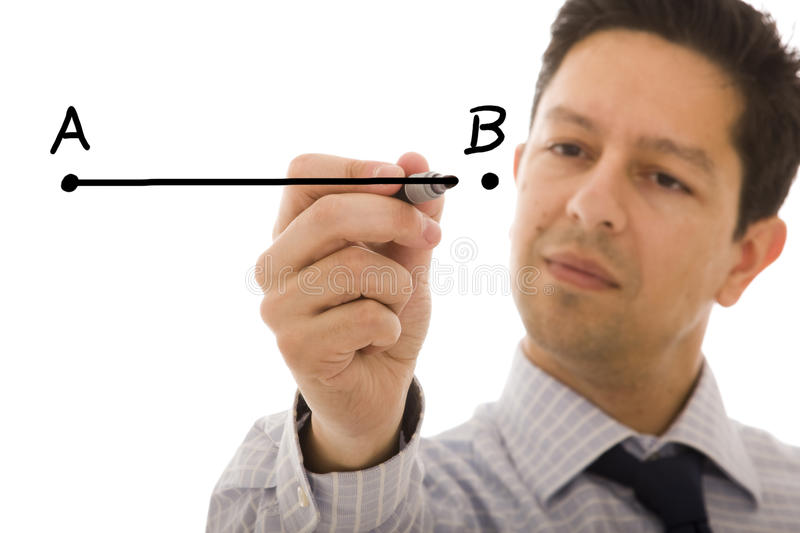 Download From point A to B stock photo. Image of education, pointing - 9686688