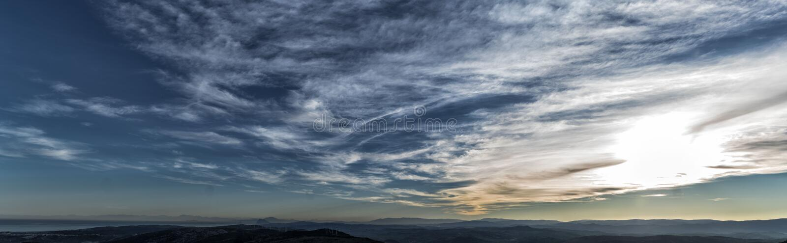 Point of view panorama in Casares stock photos