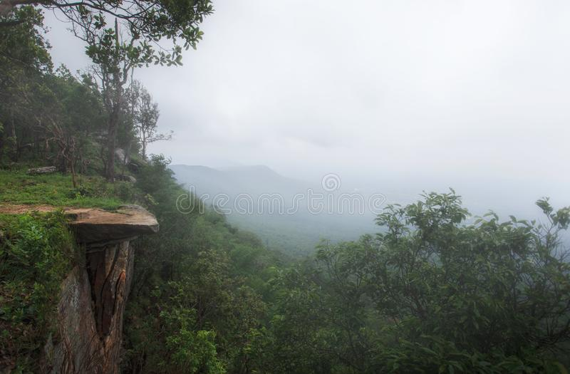 The point of view at Pha Hum Hod in Chaiyaphum , Thailand. The point of view at Pha Hum Hod in Chaiyaphum , Thailand stock photo