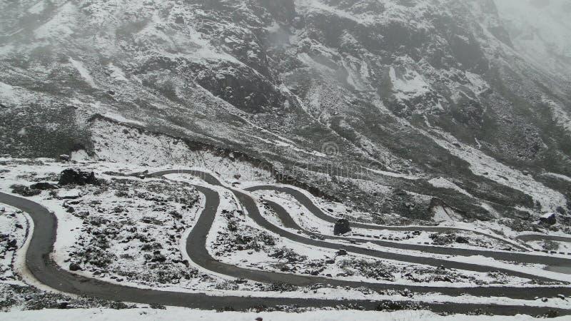 Point-Zéro, Sikkim images libres de droits