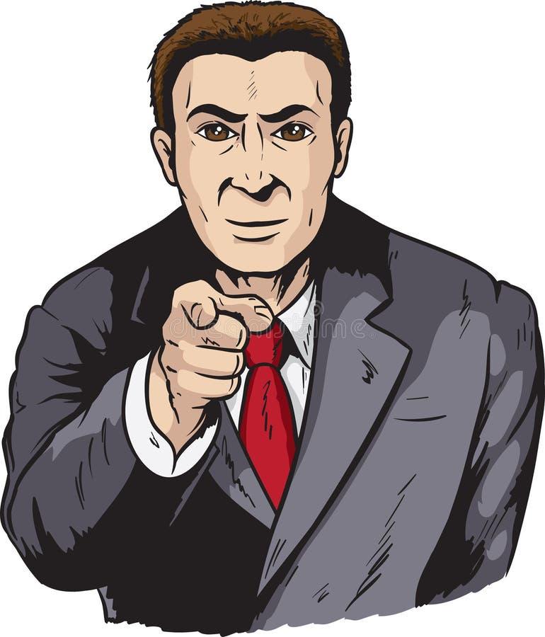 Pointage d'homme d'affaires illustration de vecteur