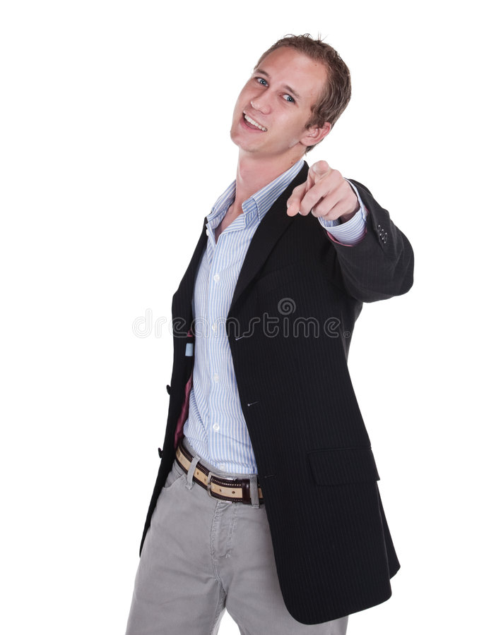 pointage d'homme d'affaires photographie stock