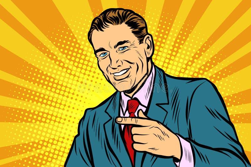 pointage d'homme de doigt illustration libre de droits