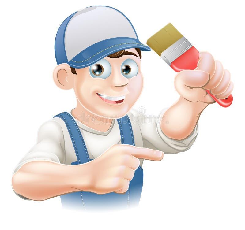 Pointage de décorateur de peintre illustration stock