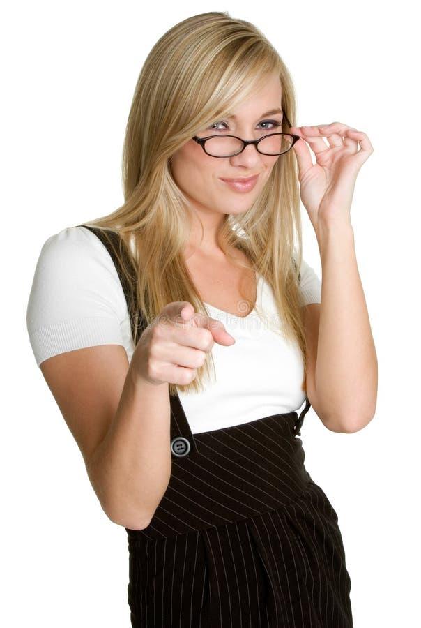 Pointage de femme d'affaires photo libre de droits