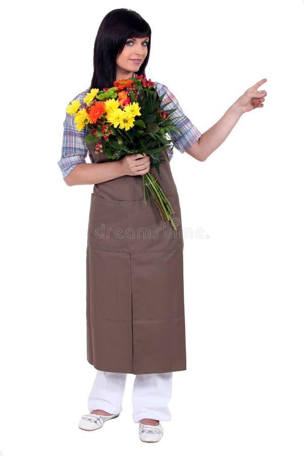 Pointage de fleuriste image stock