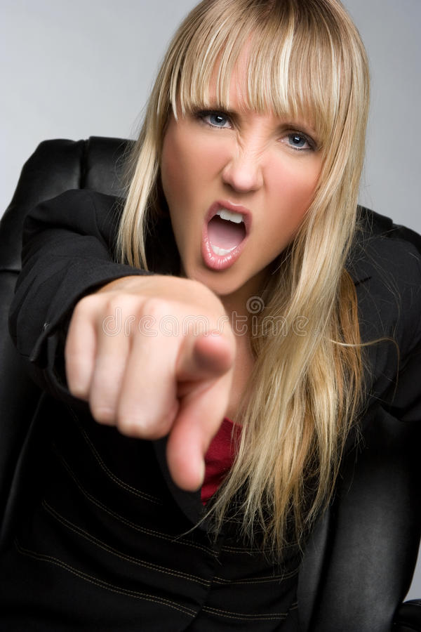 Pointage de la femme d'affaires photos libres de droits