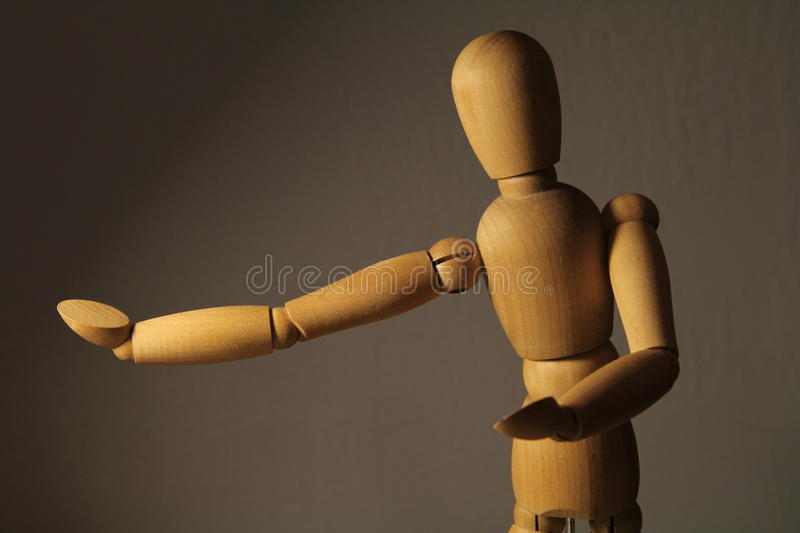 Pointage de la figure en bois photo stock
