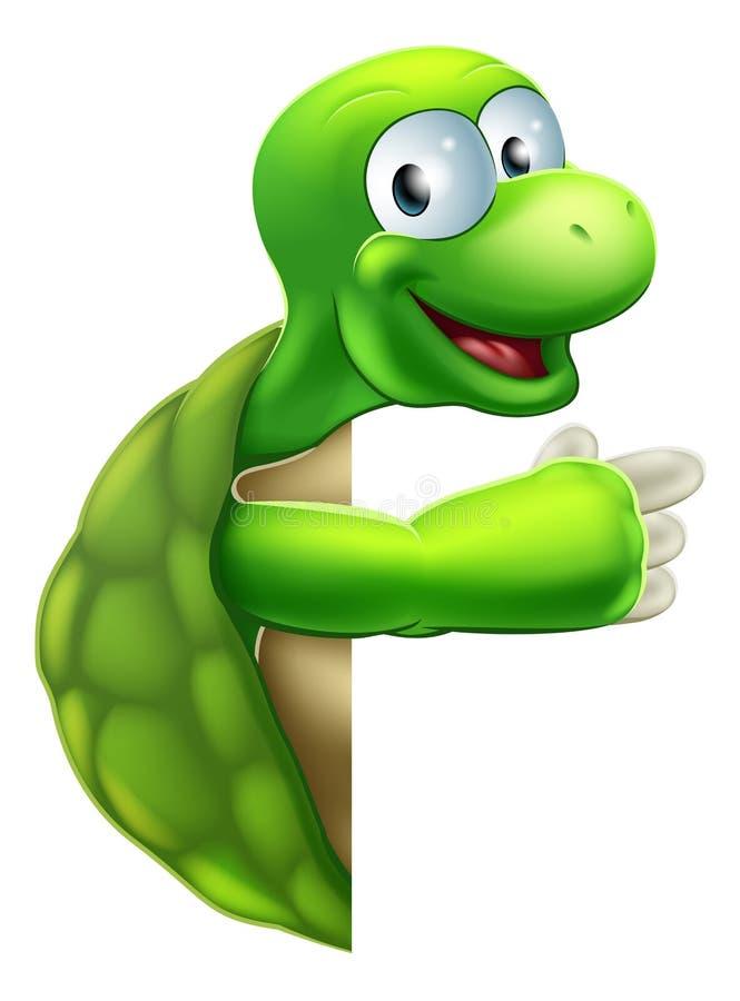 Pointage de tortue ou de tortue illustration libre de droits