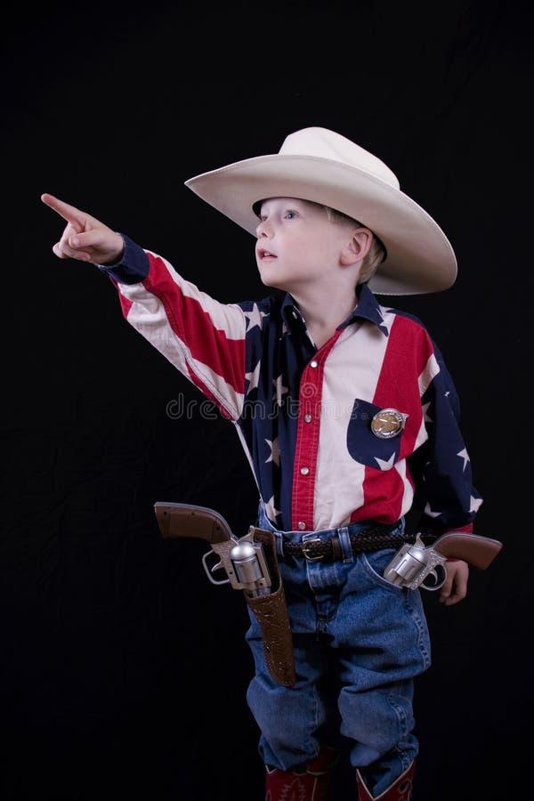 Pointage du cowboy photographie stock