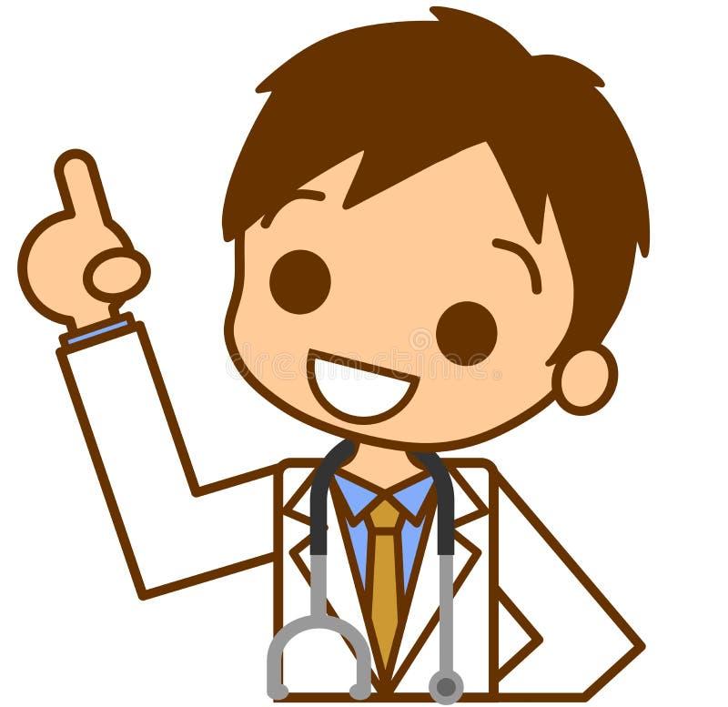 Pointage du docteur illustration stock