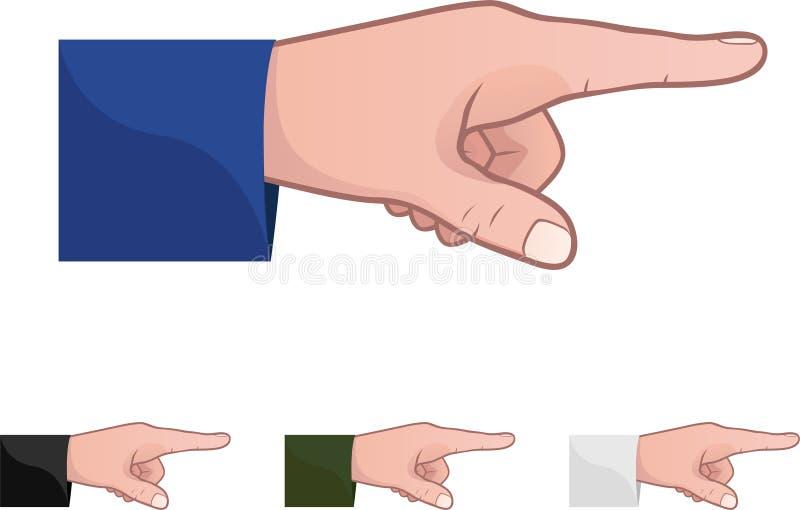 Pointage du doigt illustration de vecteur