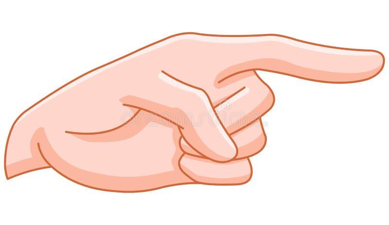 Pointage du doigt illustration libre de droits