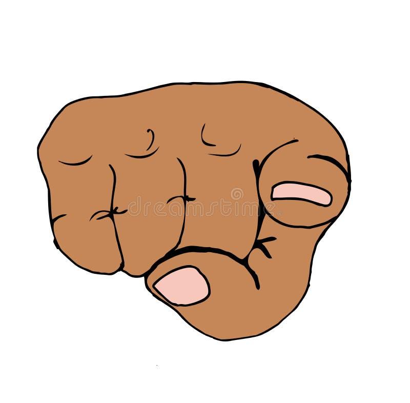 Pointage du doigt dans le poing asiatique illustration stock