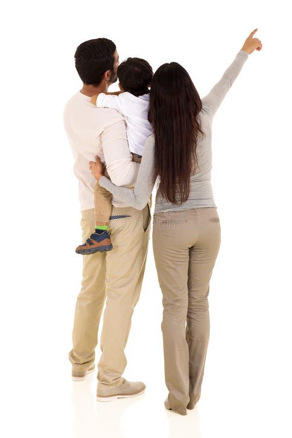 Pointage indien de famille photographie stock libre de droits