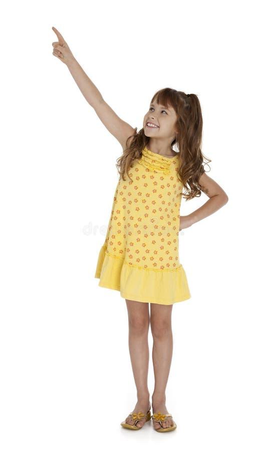 Pointage mignon de petite fille images libres de droits