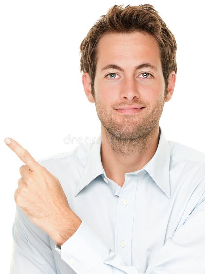 Pointage occasionnel d'homme d'affaires image stock