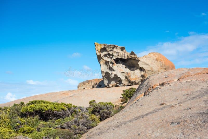 Pointage vers le ciel - des roches remarquables, île de kangourou, Australie du sud image stock